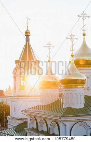 Church in a sunset rays, Nizhniy Novgorod, Russia