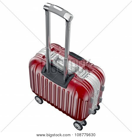 luggage small red
