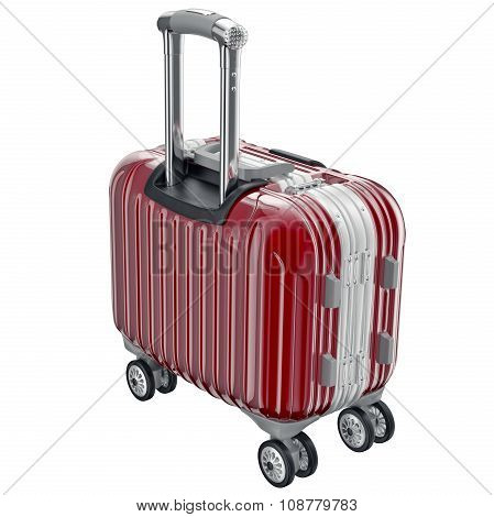 Red luggage small