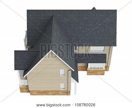 Two storey villa, top view