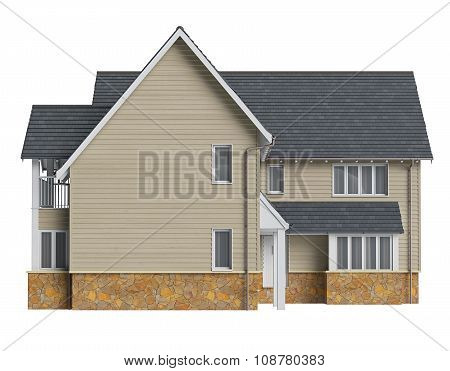 Two storey villa, front view