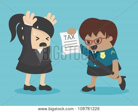 Business Woman Evasion Tax