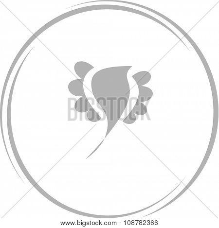 bird. Internet button. Raster icon.