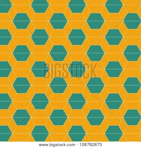 Seamless Abstract Hexagonal Tiles Pattern Background