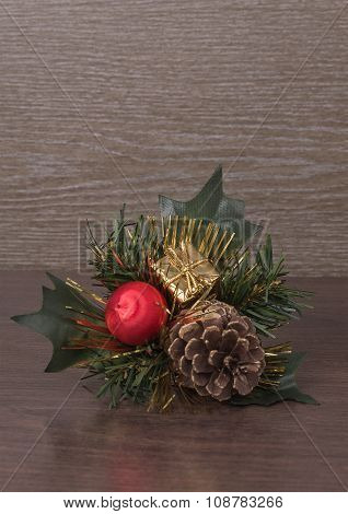 Christmas Decorations On Background