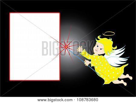 Background with cherub