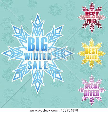 Big winter sale poster background