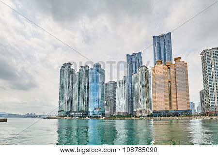 Busan, Korea - September 19, 2015: Buildings In Marine City