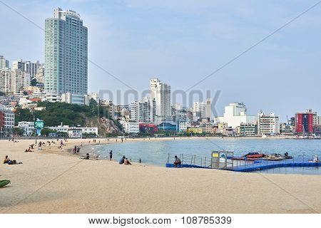 Busan, Korea - September 20, 2015: Songdo Beach