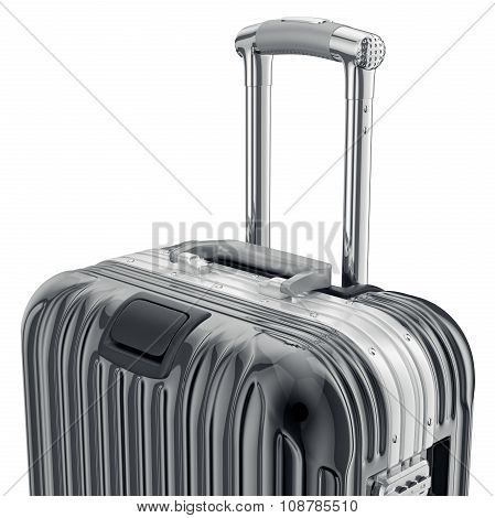 Black luggage, zoomed view