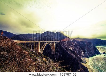Bixby bridge,Big Sur in winter