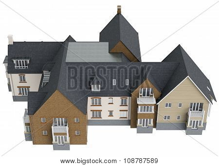 Two storey cottage, top view
