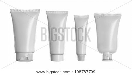 White Product For Cream Or Gel Cosmetic. Mockup