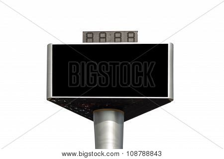 Blank Advertising Billboard Isolated On White