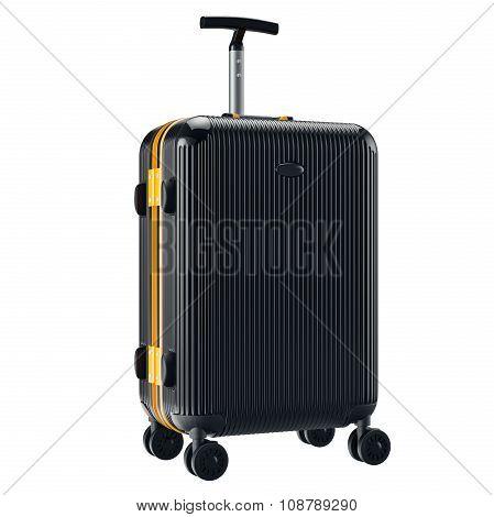 Black metallic luggage