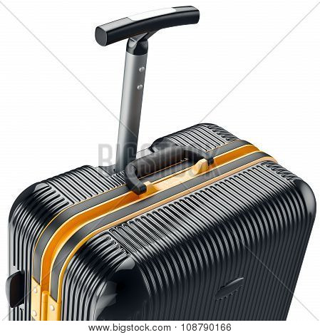 Luggage on wheels, zoomed view
