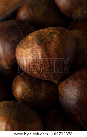Raw Brown Organic Italian Chestnuts