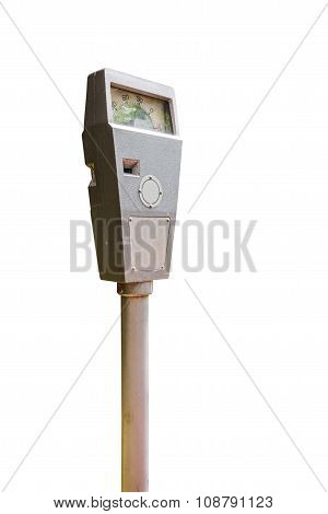 Parking Meter On White.