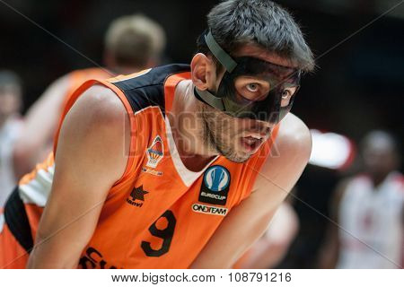 VALENCIA, SPAIN - NOVEMBER 18th: Van Rossom during Eurocup between Valencia Basket Club and Sluc Nancy at Fonteta Stadium on November 18, 2015 in Valencia, Spain