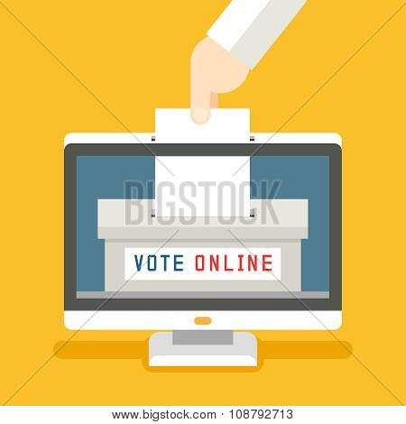 Online voting vector concept background