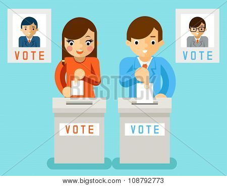 People vote for candidates of different parties