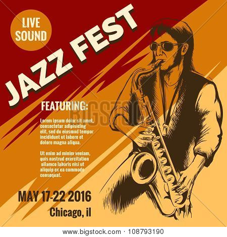 Jazz music festival poster