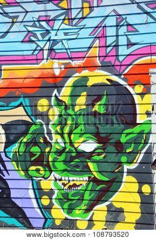 Devil mural