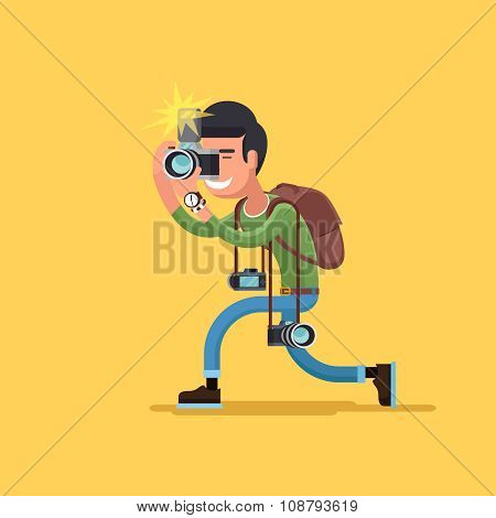 Vector photographer character