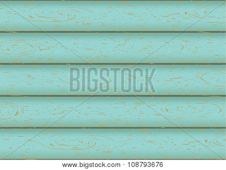 Wooden Texture. Plank Background. Blue Vintage Picture Style. Vector Illustration
