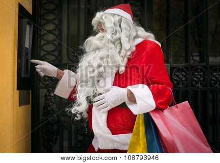 Santa Claus ringing the bell