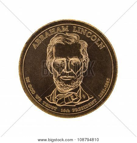 US Presidential One Dollar Coin - Abraham Lincoln