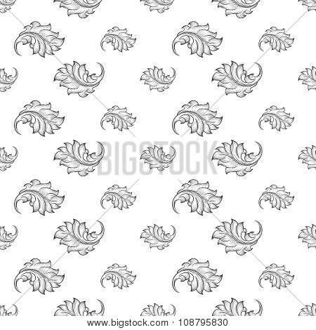 Baroque damask seamless pattern