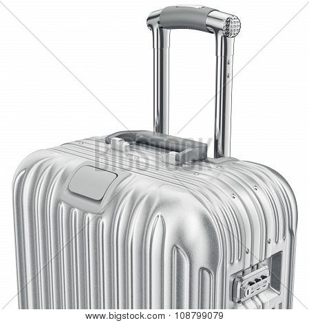 Silver luggage, zoomed view