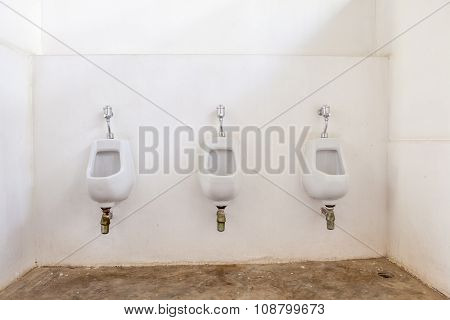 Three Urinals To Be Use
