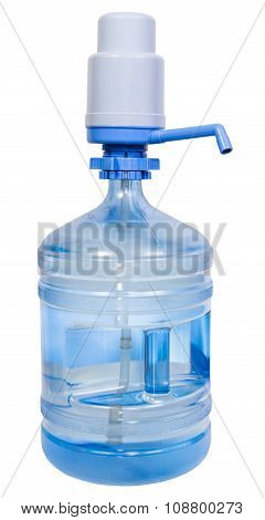 Pump Dispenser On 5 Gallon Drinking Water Bottle
