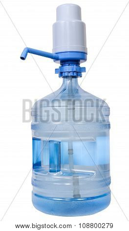 Manual Pump Dispenser On 19 Liter Water Bottle