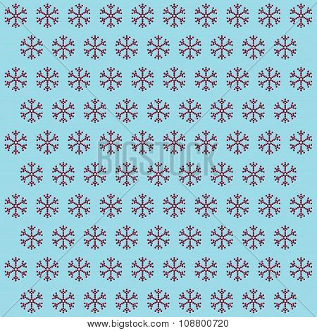 Easy Background With Snowflakes.