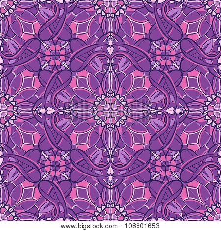 Pattern With Decorative Symmetric Ornament