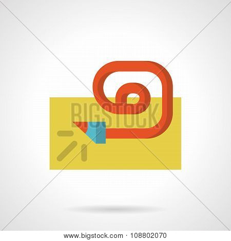 Party whistle simple flat color vector icon