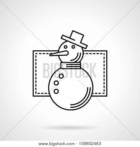 Wintertime symbol flat line vector icon