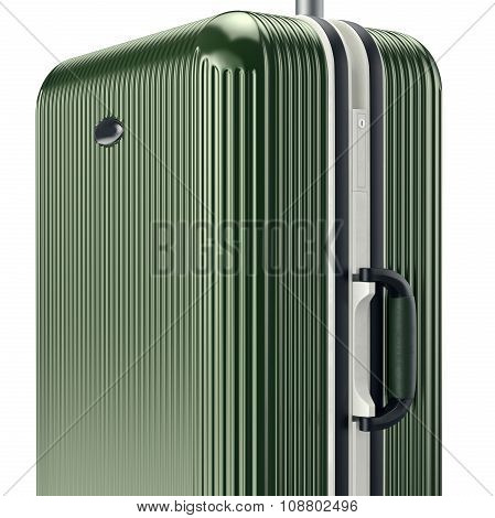 Luggage with handle, close view