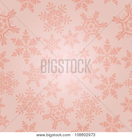 Light  Pattern With Snowflakes, Vector