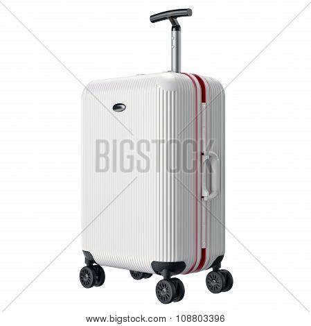 White travel large luggage