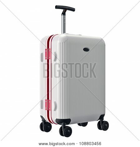 Big white luggage