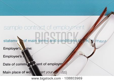 Employment Contract With Fountain
