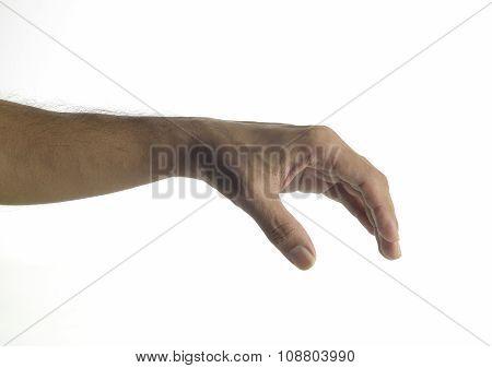 Human hand  grabbing gesture