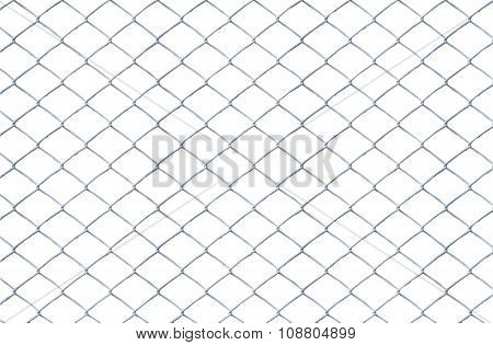 Texture The Old Cage Metal Net Isolate On White Background. This Has Clipping Path