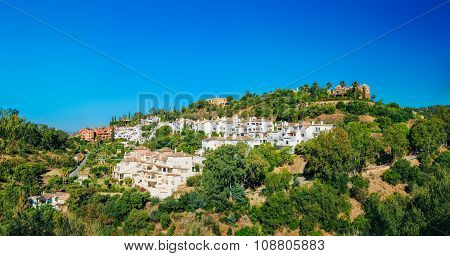 Benahavis In Malaga, Andalusia, Spain. Summer Cityscape. Village
