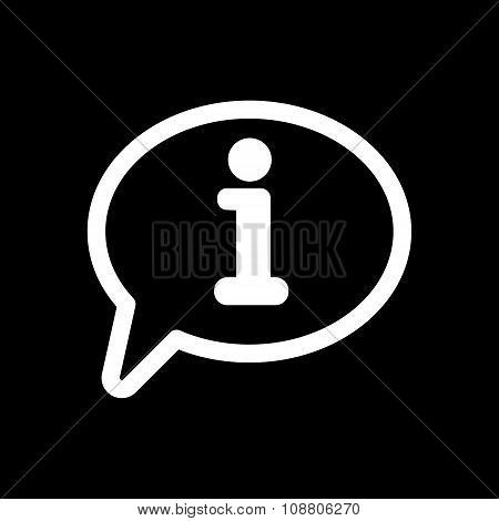 The information icon. Info and faq symbol. Flat