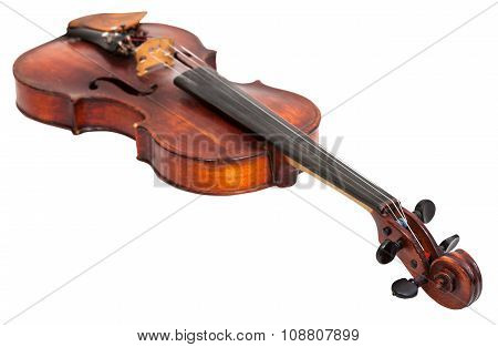 Old Fiddle Isolated On White
